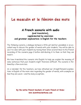 Masculin Et Féminin Worksheets Teaching Resources Tpt