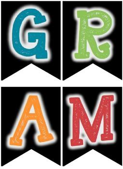 GRAMMAR POSTERS (Set of 45)
