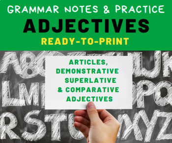 GRAMMAR PRACTICE: Adjectives for Middle School Language Arts Students