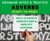 GRAMMAR PRACTICE: Adverbs for Middle School Language Arts