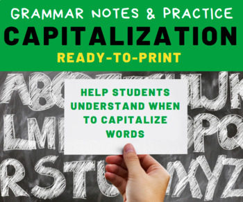 GRAMMAR PRACTICE: Capitalization for Middle School Language Arts Students
