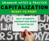 GRAMMAR PRACTICE: Capitalization for Middle School Languag