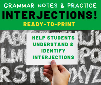 GRAMMAR PRACTICE: Interjections for Middle School Language Arts Students