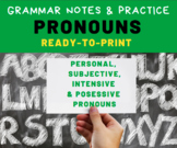 GRAMMAR PRACTICE: Pronouns for Middle School Language Arts