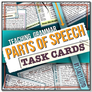 [GRAMMAR] Parts of Speech TASK CARDS