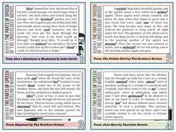 [GRAMMAR] Parts of Speech TASK CARDS