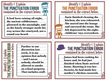 [GRAMMAR] Punctuation TASK CARDS