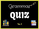 Grammar Quiz - Interactive Powerpoint