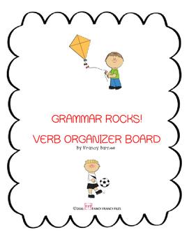 GRAMMAR ROCKS! VERB ORGANIZER BOARD