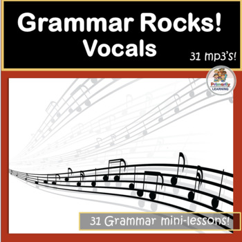 Grammar Songs! Sing about Verbs, Nouns, Adjectives and more!! 31 mp3's!