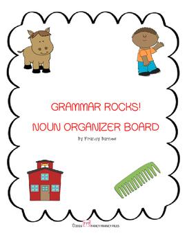 GRAMMAR ROCKS! NOUN ORGANIZER BOARD
