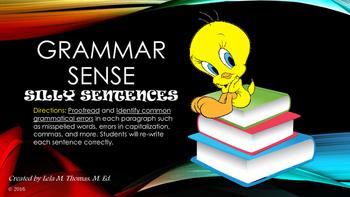 GRAMMAR SENSE (BASIC PROOFREADING PRACTICE)