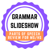 GRAMMAR SLIDESHOW: Parts of Speech Review for MS / HS