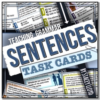 [GRAMMAR] Sentences TASK CARDS