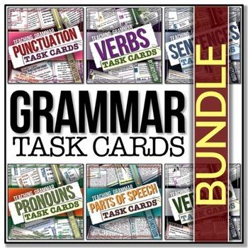 [GRAMMAR] Task Cards BUNDLE