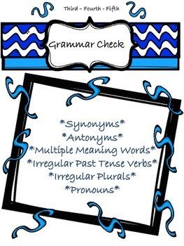 GRAMMAR/LANGUAGE One Activity - SO MUCH - 3rd, 4th, 5th