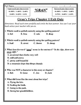 GRAN FREE LESSON From Full Unit Skills Strand Unit 2 Reader Activity/Assessment
