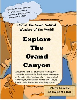 GRAND CANYON instructional teaching unit and study guide CCSS