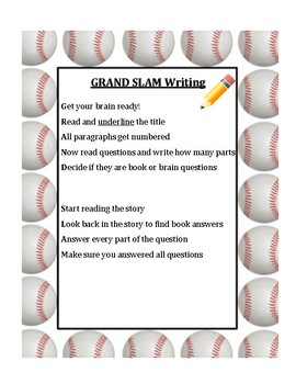 GRAND SLAM Student Response Writing