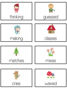 GRANDMOTHER'S HOUSE Inflectional Word Endings - ELA First Grade Game - Word Work