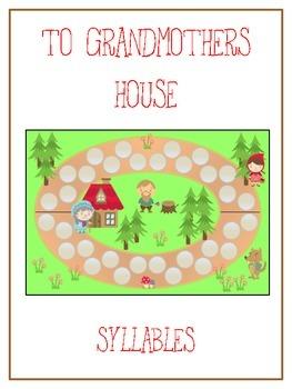 GRANDMOTHER'S HOUSE Syllables - ELA First Grade Folder Game - Word Work Center