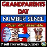 GRANDPARENTS DAY ACTIVITIES KINDERGARTEN (NUMBER SENSE CENTER PUZZLES)