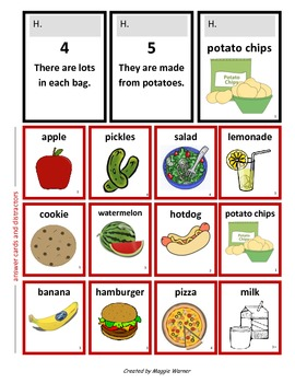 GRANNY'S GROCERIES - an easy game of inference