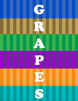 G.R.A.P.E.S. Civilization Word Wall Set