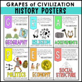 GRAPES Posters for Ancient Civilizations, History, Geography