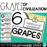 GRAPES Posters and Graphic Organizers: 6 Aspects of a Civilization