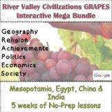 GRAPES River Valley Civilizations Mega Bundle 5 Weeks of Google & Print Lessons
