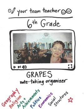 GRAPES note-taking organizer: a VIDEO and thinksheet for your students!