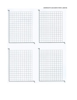 GRAPH PAPER-MATH- 20 TYPES FOR MIDDLE SCHOOL CLASSROOM- NO PREP