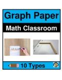GRAPH PAPER- 7 TYPES- MATH- NO PREP