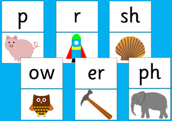 GRAPHEME FLASH CARDS- phonics, Letters and Sounds
