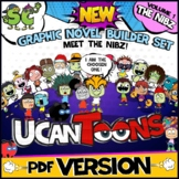 GRAPHIC NOVEL BUILDER SET | COMIC STRIP TEMPLATES | CREATIVE WRITING PROJECT