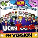 UCanToons GRAPHIC NOVEL BUILDER SET   COMIC TEMPLATES   Creative Writing   FUN!
