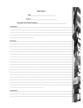 GRAPHIC ORGANIZER--Book Report