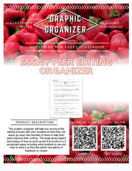 GRAPHIC ORGANIZER - Essay Peer Editing Page
