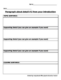GRAPHIC ORGANIZER FOR ESSAY WRITING (5 PARAGRAPHS)