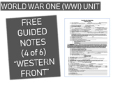 GRAPHIC ORGANIZER FOR WORLD WAR ONE (WWI) PPT (PART 4 WESTERN FRONT)