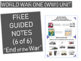 GRAPHIC ORGANIZER FOR WORLD WAR ONE (WWI) PPT (PART 6 END OF THE WAR)