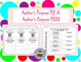 GRAPHIC ORGANIZERS Author's Purpose PIE & PIEED