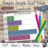 GRAPHING DATA Simple Picture Column Bar Graph Blank Scaffo