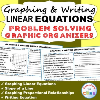 GRAPHING & WRITING LINEAR EQUATIONS Word Problems with Graphic Organizer