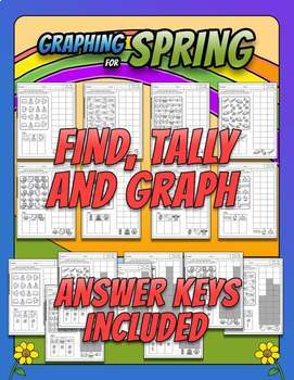 GRAPHING for SPRING - BILINGUAL - Common Core Aligned 1.MD.4/ 2.MD.10