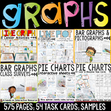 GRAPHS BUNDLE: BAR GRAPHS: PICTOGRAPHS: LINE GRAPHS: LINE PLOTS: PIE CHARTS