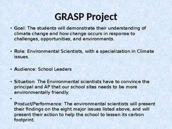 GRASP Climate Change Project