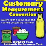 Math Customary Measure Conversion Problem Solving, GRASPS, APT - Upper Grades