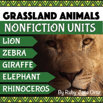 Grassland Animals Activities Bundle